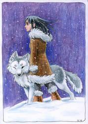 Eskimo Girl by bilautaa