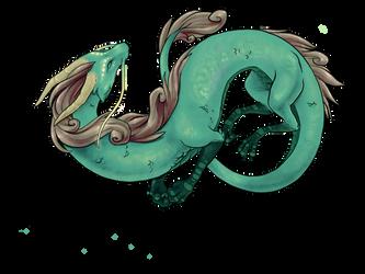 Sea Dragon Sketch by bilautaa