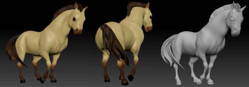 Horse Character Turnaround by bilautaa