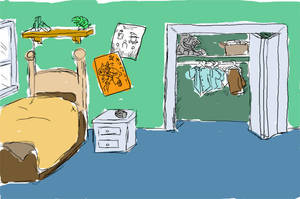 Ross's Room concept by AniMerrill