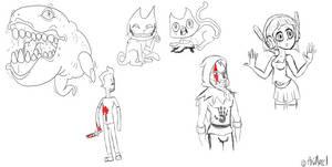 Sketch Dump 5-15-2014 by AniMerrill