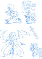 Old Character Doodle Dump by AniMerrill