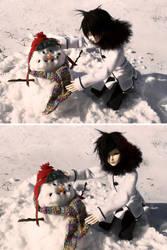 I Made a Snowman! by RodianAngel