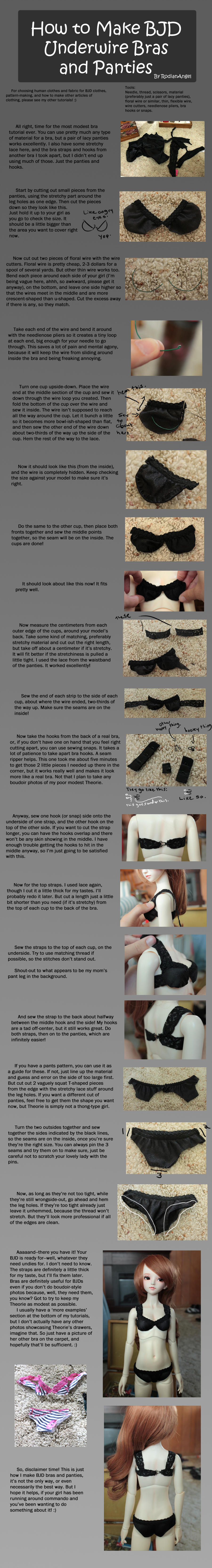 How To Make Bjd Underwire Bras And Panties By Rodianangel On Deviantart