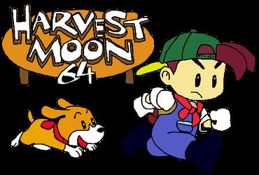 Harvest Moon 64 Logo by SierratheLurker