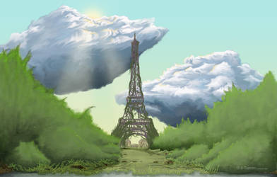 Overgrown Paris by H-Thomson