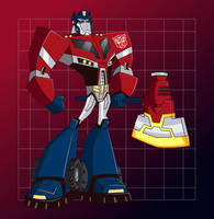 Optimus Prime Animated_Fanart by RiderB0y
