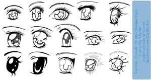 Various Female Anime+Manga Eyes by Elythe