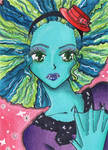 ACEO #189 - Monster HAIR by Elythe