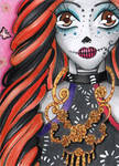 ACEO #191 - Miss Skeleton by Elythe