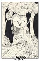 InkTober 2016/04 - Dartrix by Elythe