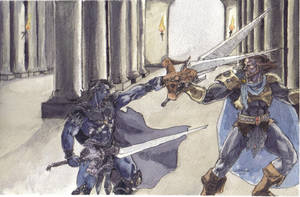 Randor versus Keldor by MissLizz