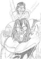 Wolvie and Friend by Khaosenvy