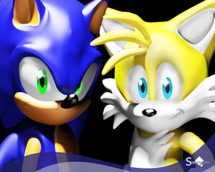 Sonic and Tails by Sigacomer