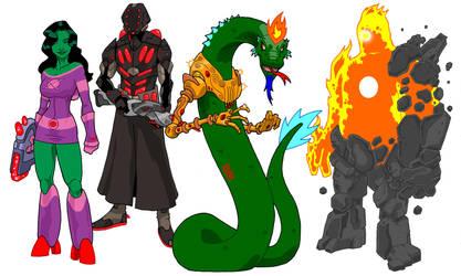 Alien designs01 by onecoyote