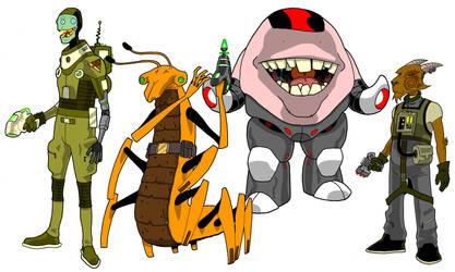 Alien designs02 by onecoyote