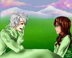 Valentine Commisshes: Staring Contest by chromic7sky