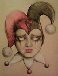 harlequin sketch by lollypop3000