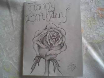 birthday card 4 wife by iamriki