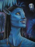 Selfportrait as an Avatar by FridaG