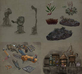 Sk1-6      Some sketches for game lastfrontier.r by serg4d