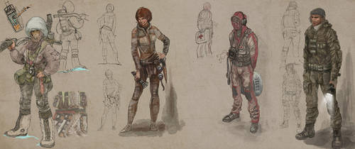 Sk1-4      Some sketches for game lastfrontier.ru by serg4d