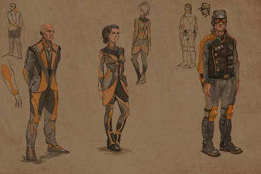 Sk1-3       Some sketches for game lastfrontier.ru by serg4d