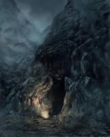 Skyrim cave by x-ste-x