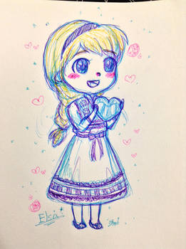 Sketchy- young Elsa by TropicalSnowflake
