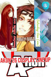 Akon 26 cosplay line up by Lil-lexi101