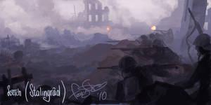 Sketch - Stalingrad Battle by fear-sAs