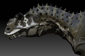 Allosaurus head new version by Manuelsaurus