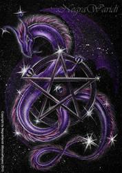 Dragon with stars by NegraWaridi