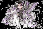 Gothic angel's pony by NegraWaridi