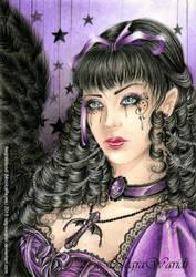 Purple lady by NegraWaridi