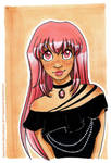 Pink hair by NegraWaridi