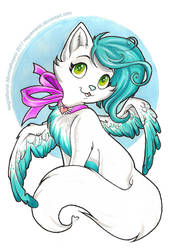[Commission] Catty Angel by NegraWaridi