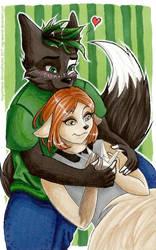 Szymon and Kemi by NegraWaridi
