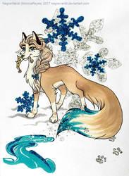 Elsa as a fox by NegraWaridi