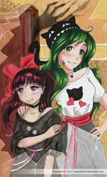 Kuro, Coco and MidoriCat by NegraWaridi