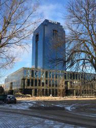 Modern beauty of Warsaw: Warta Tower by NegraWaridi