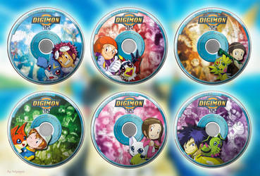 Digimon Adventure 02 - DVD Box Set (templates set) by CoversOfFelympus