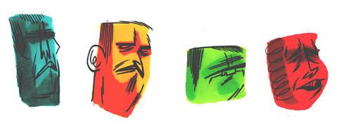 prismacolor faces by megachron