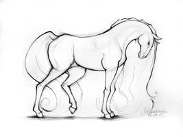 horse by Ladowska