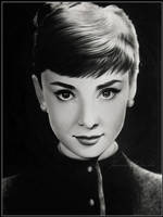 Audrey drawing by Ladowska