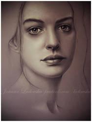 Anne Hathway by Ladowska
