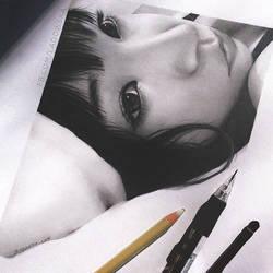 LiSA's pencil portrait by Ladowska