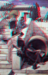 john william waterhouse Conversion 3D by Fan2Relief3D