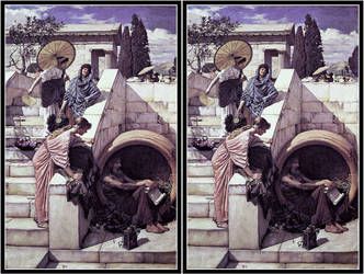 john william waterhouse Cross View by Fan2Relief3D