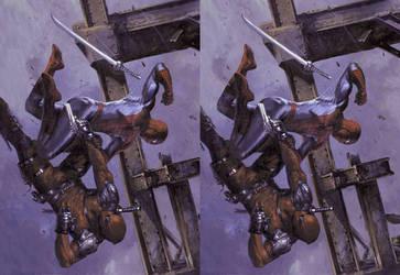 Civil War II Spiderman Dead Pool cross view by Fan2Relief3D